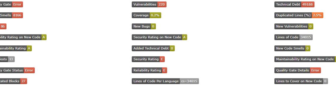 """Projet en cours – Créer des """"Badges"""" à partir de .Net Core 2.1 pour les statistiques Sonar Qube"""